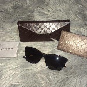 NEW Gucci sunglasses 52mm square Havana